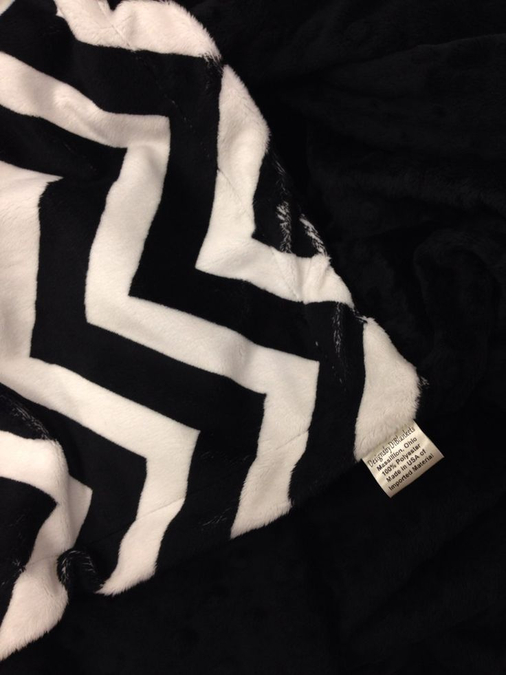 Minky Blanket Toddler Black Chevron Black and White Bedding Toddler Size 40 x 50 by DesignsByDiBlankets on Etsy