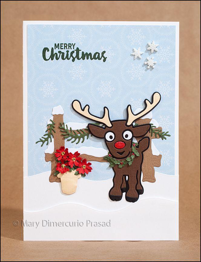 67 best karen b cards images on pinterest elizabeth for Reindeer christmas card craft