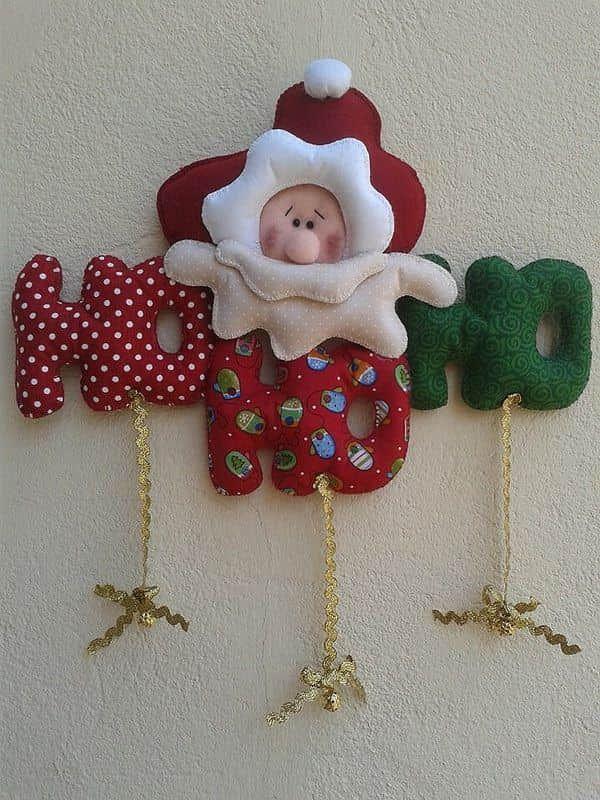 Adornos de Santa Claus en Fieltro con Moldes01