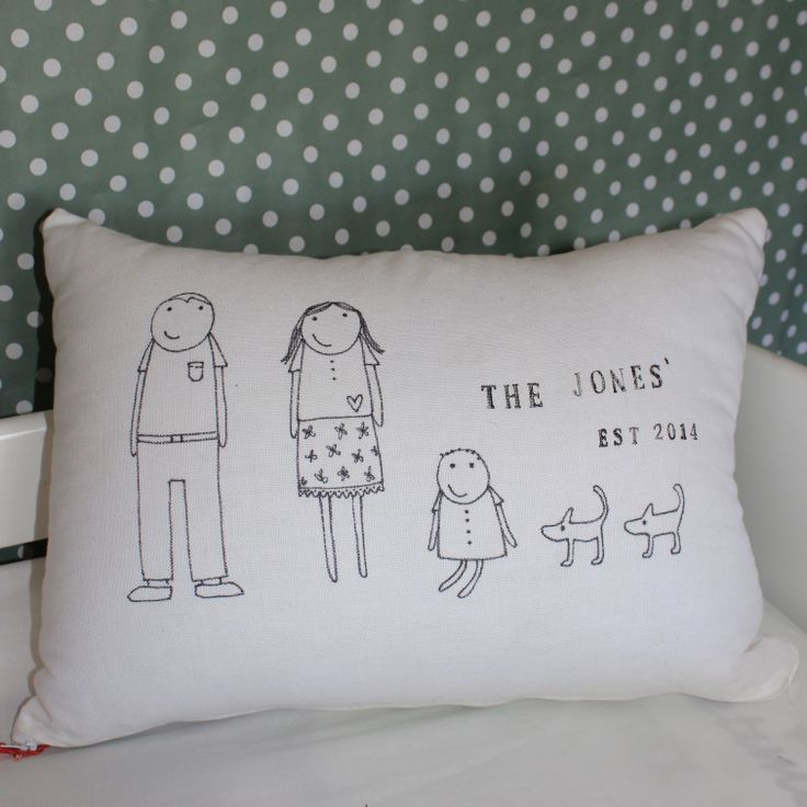 Personalised baby nursery cushion