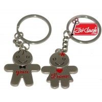 I love you keyring - double metal strong key chain from zaKluch.com