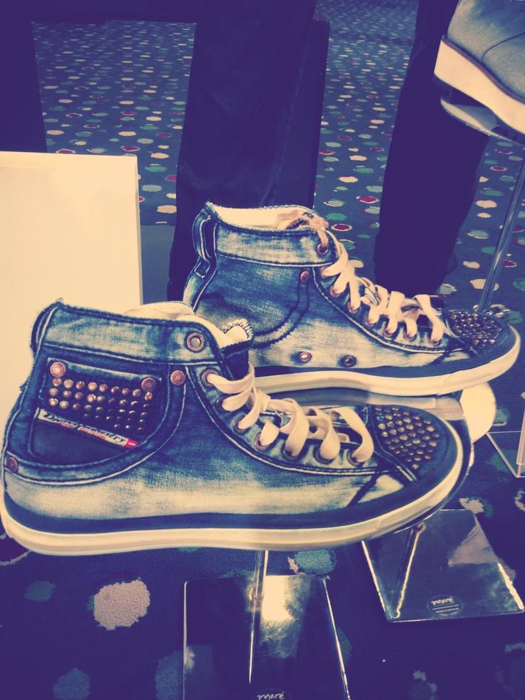 Zapatos de denim de @diesel