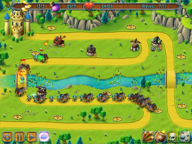 The ancestral castle is under attack! You must master the invaders and defend your legacy in Medieval Defenders, a shiny gem of a tower defense strategy game. Show a bold and strong front as you deploy just the right weapons in just the right strategy to bring down your enemy. The march toward the castle is on, and there is no time to delay.