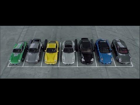 Porsche vuelve el rugido de los motores en música.  Para aquellos que disfrutan de los coches deportivos, el rugido de los motores a menudo suena como música. Porsche decidió aplicar esta idea en Rugido de cumpleaños , sitio que marca el 50 aniversario del lanzamiento del modelo 911. En él, las notas musicales están representadas por siete generaciones de este clásico, desde la primera, a partir de 1963-1973, hasta el último, desde 2011 hasta 2013.