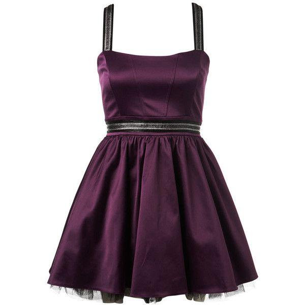 Petites Purple Satin Dress ($82) ❤ liked on Polyvore featuring dresses, vestidos, short dresses, purple, dresses &amp skirts, women's dresses & skirts, petite prom dresses, satin dress, petite dresses and mini dress