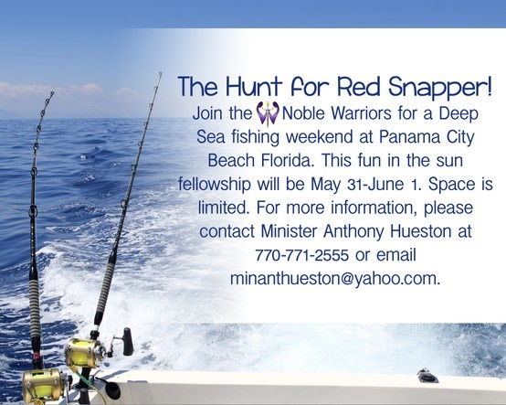 The hunt for red snapper join the noble warriors for a for Deep sea fishing in panama city beach
