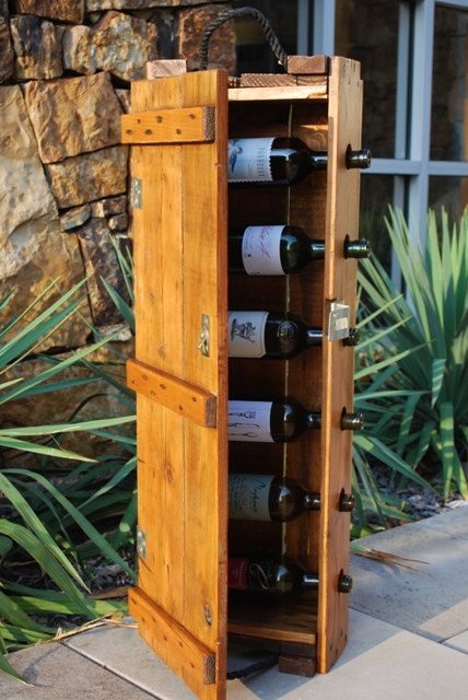Perfect gift for your man: fashioned rustic with a flair of macho. RT Twitter.com/JBrentAlexander Vintage Ammo Box Wine Rack. http://t.co/alllkEhG