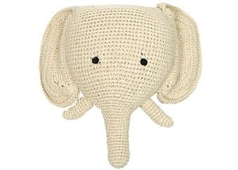 Ann-Claire Petit plat olifantenhoofd voor aan de muur