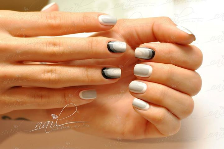 nails manicure ombre grey