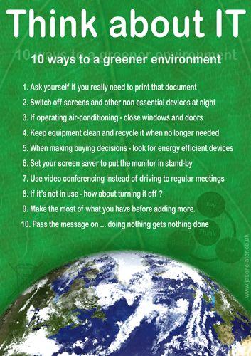Green Technology~ 10 easy, great ideas