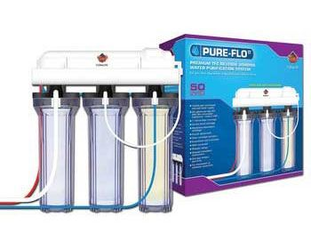 4ROAquariumpH Recommended RO unit: Coralife Pure-Flo  An RO unit will help provide a constant, stable pH level, and can filter up to 99% of water contaminants. An RO system will need occasional filter replacements, but is a great long-term solution if you have hard tap water and your fish are not happy in it.  Read more: http://homeaquaria.com/4-simple-ways-to-lower-aquarium-ph-naturally/#ixzz3hwcmZlqE