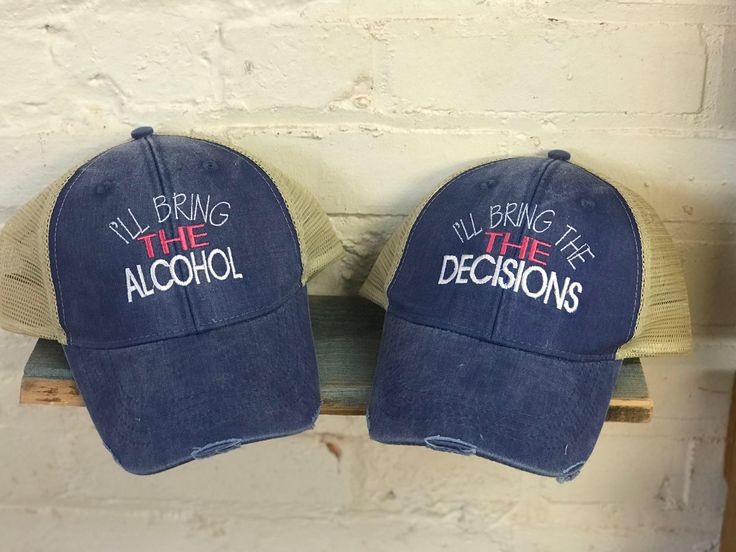 Excited to share the latest addition to my #etsy shop: I'll Bring The Alcohol, I'll Bring The Bad Decisions, Distressed Trucker Hat, Trucker Monogrammed Hats, Rugged Trucker Hats, Monogrammed Hat #accessories #hat #thebaddecisions #bringthealcohol #illbringthe #monogramhat #monogram #summerhat #truckerruggedhat