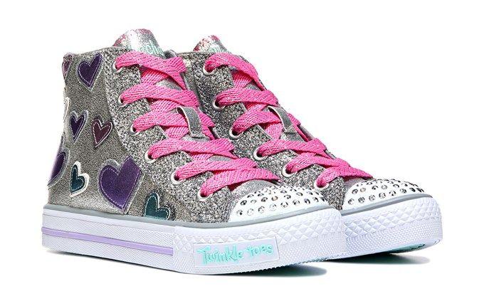 Skechers Kids' Twinkle Toes Starlet High Top Sneaker Pre/Grade School Shoe