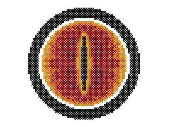 sauron's eye cross stitch - Buscar con Google