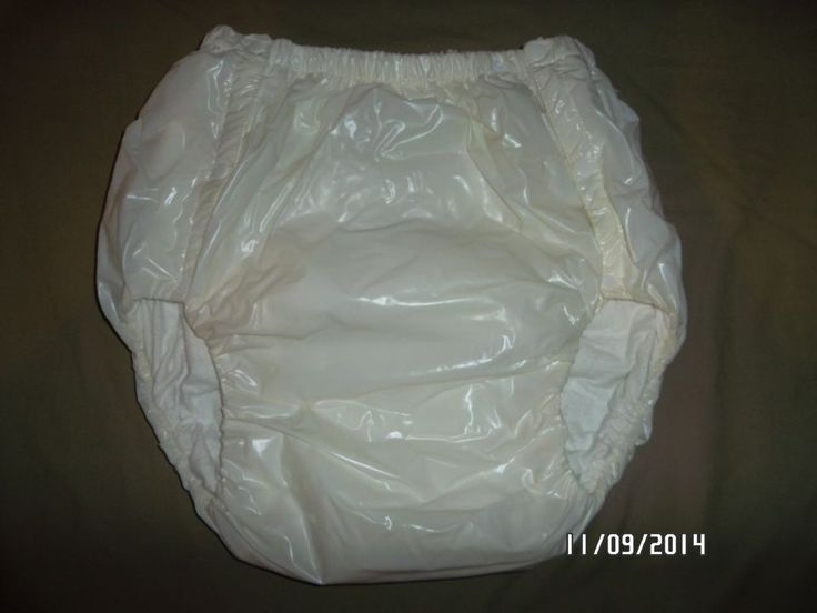 Adult Snap On Diaper And Vinyl Plastic Pants All In One