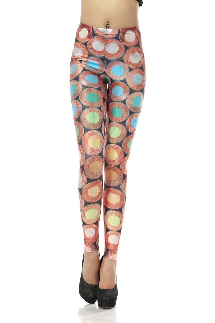 Sexy Lady Galaxy Leggings Printed Cosmic Space Pants Tie Dye Tights New Vintage Fashion Colored Pencil Crayons Digital Printing For Women