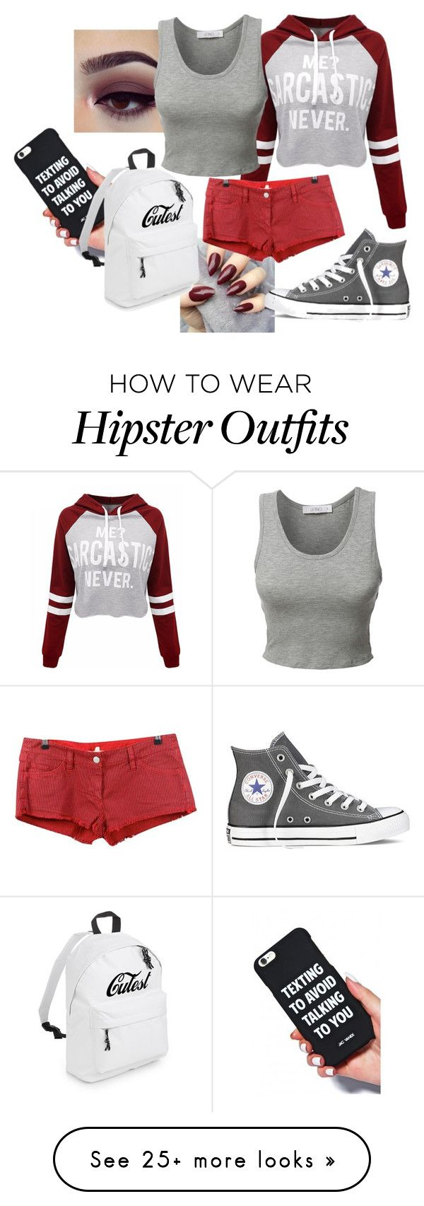 """""""I'm not actually that nice."""" by animalisticinstinctive on Polyvore featuring WithChic, LE3NO, Converse and Étoile Isabel Marant"""