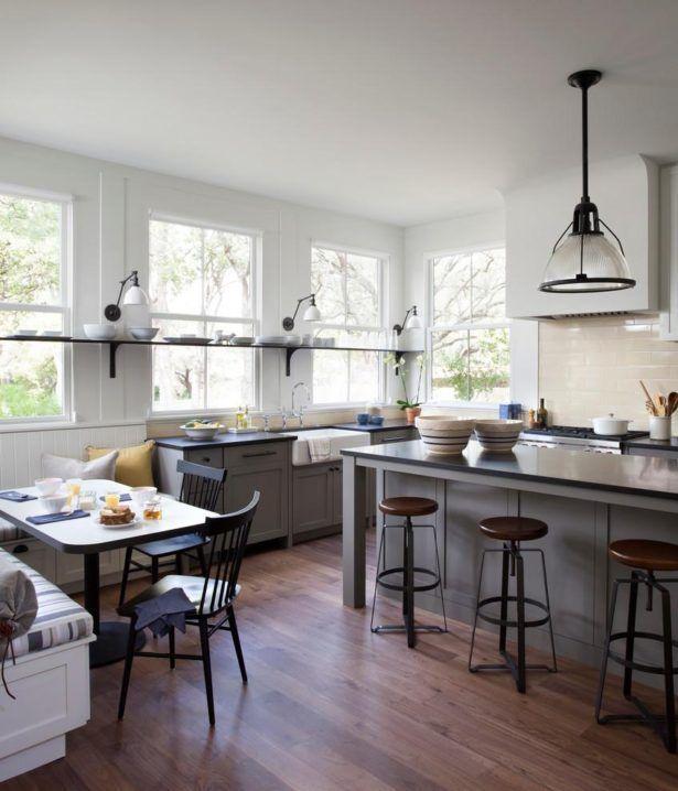 Elegance Kitchen Design Studio Pendant Lamps Shelf On The Wall Glass Window Bar…