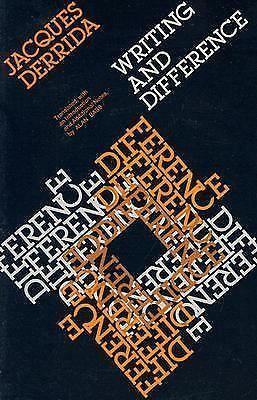Writing and Difference by Jacques Derrida (1980, Paperback, Reprint)