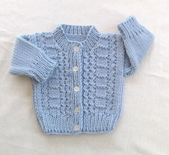 a44566c4e Blue hand knit toddler cardigan - 2 to 3 years - Boys blue sweater ...
