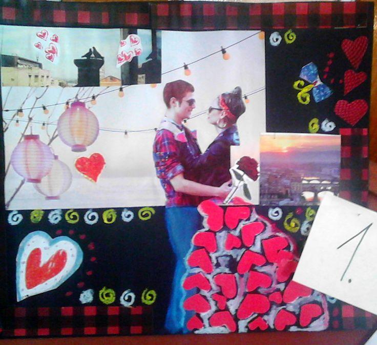 Sztási Valentin-napi  kollázsa