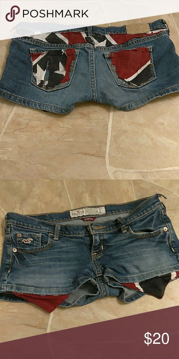 Rebel flag shorts One of a kind. Open to trades and offers using the offer button! Hollister Shorts Jean Shorts