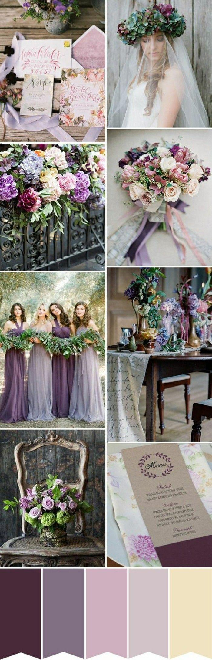 theme mariage couleur violette blanc et beige, comment bien decorer votre…