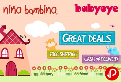 BabyOye offers Upto 20% off on Nino Bambino Organic Baby Clothes. Valid Till 29 Feb. Also get Rs.50 Off on any purchase above Rs. 500. Niño Bambino is a young brand that aims to provide cool, functional, sustainable and yet affordable clothing and accessories for your little ones.   http://www.paisebachaoindia.com/upto-20-off-on-nino-bambino-organic-baby-clothes-babyoye/