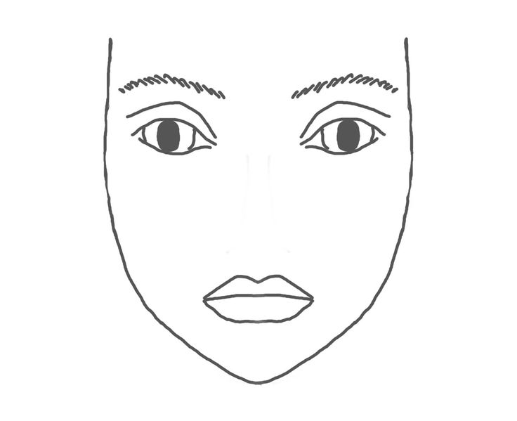 blank face make up face beauty junkie eye makeup face chart forward