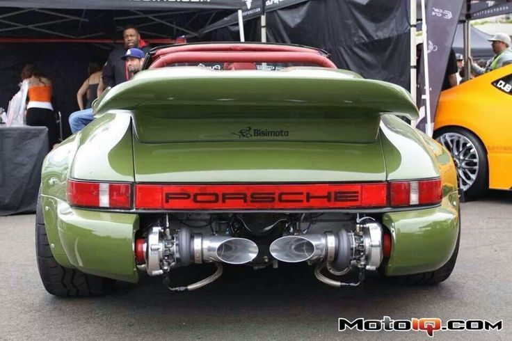 Love the exposed twin turbos!
