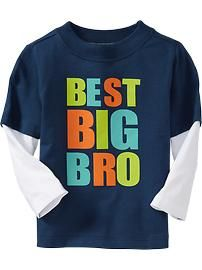 Toddler Boy Clothes | Old Navy### love this for my Wyatt! He is definitely the best Big Bro Ever!