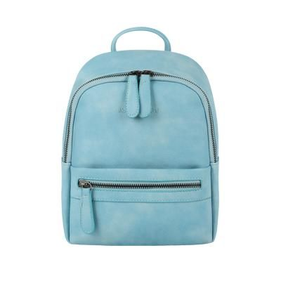 Small preppy style candy color rucksack zipper simple women shopping bag ladies mobile bookbags student school backpacks