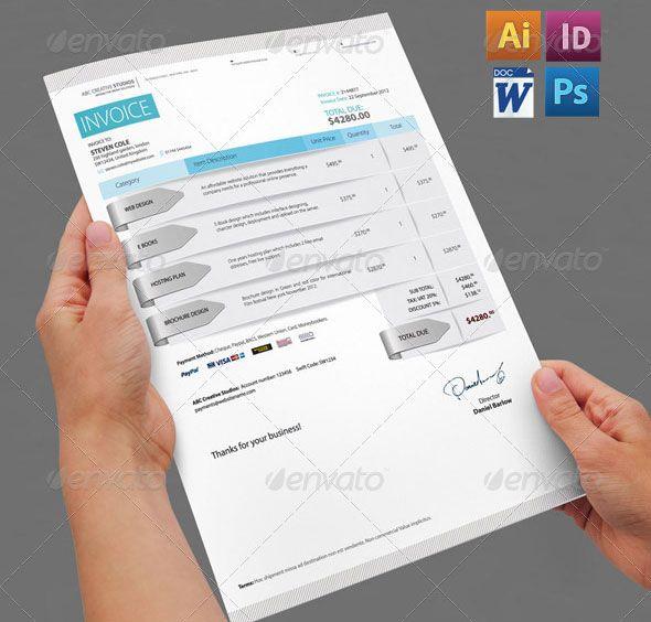 Best  Contoh Invoice Dengan Desain Modern Images On