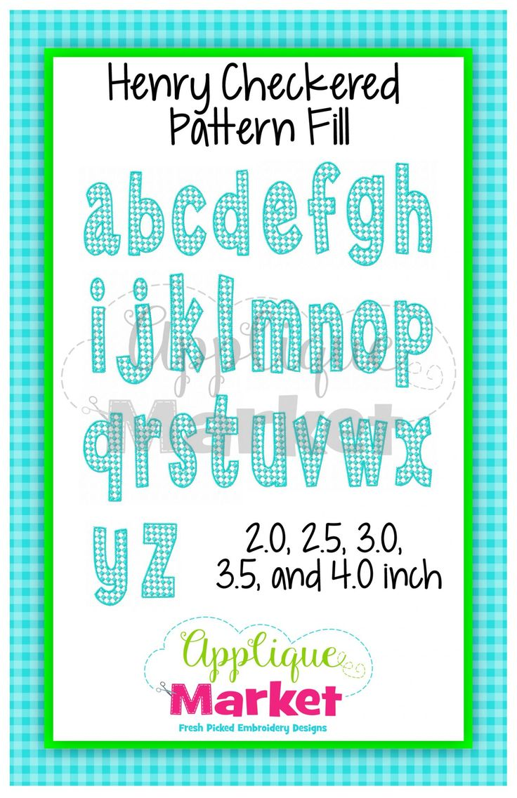 Henry Checkered Pattern Fill Alphabet