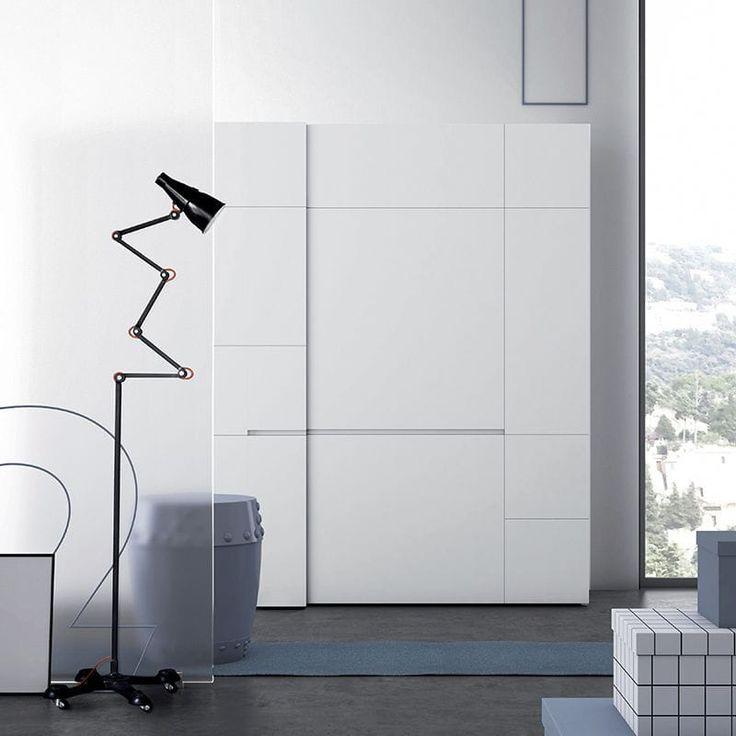 Modul Kleiderschrank / Modern / Glas / Schiebetüren   CREA   PIANCA