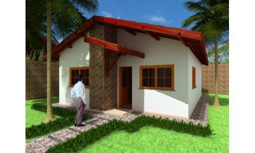 Casa economica de tres dormitorios y 62 metros cuadrados - Planos de casas pareadas ...