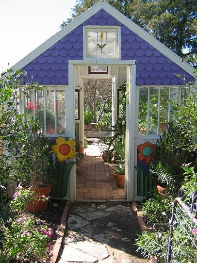 greenhouse out of old windows - Google Search
