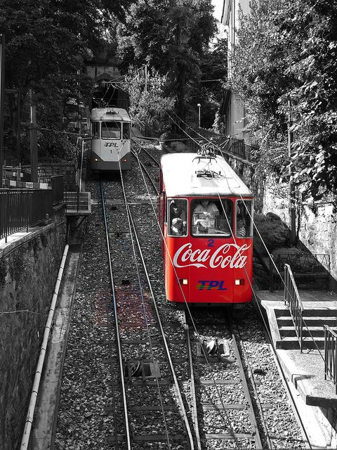 Funicular Railway, Lugano by NorthernLittlePenguin, via Flickr