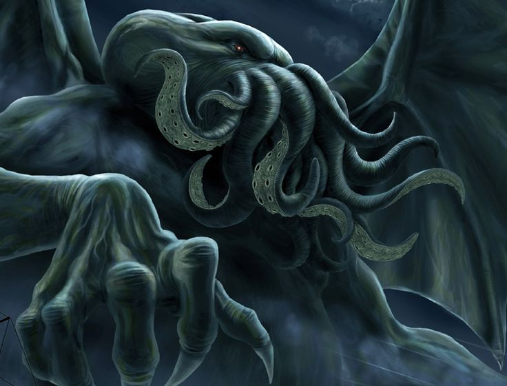 Cthulhu inspired. (Lovecraft). Cthulhu (detail) by Arco den Haan.