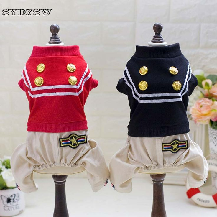 SYDZSW Handsome Pet Clothing Dog Police Costume Puppy Dog Jumpsuit Overalls Coat Chihuahua Clothes Design Pet Dog Accessories