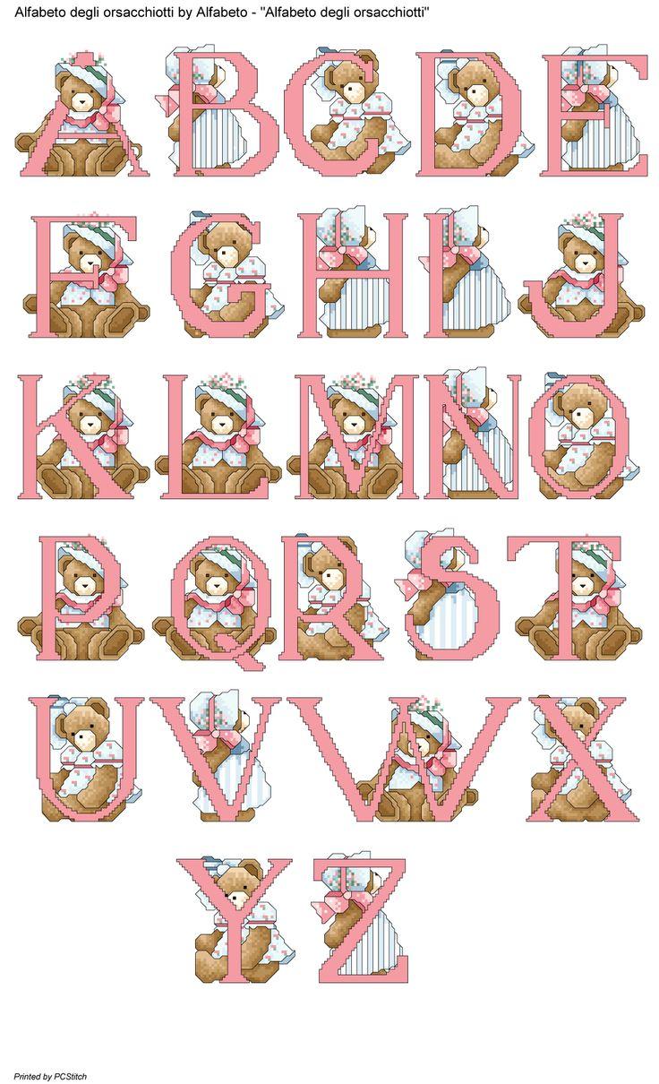 alfabeto degli orsacchiotti