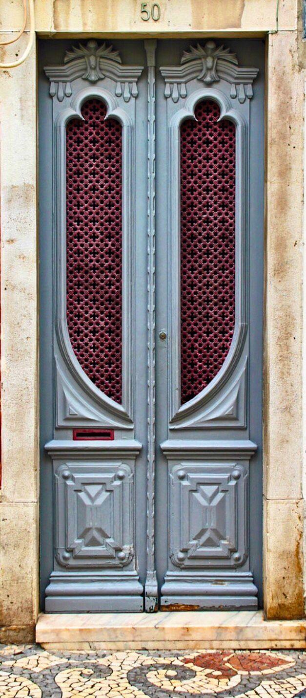 Blue door in Loulé, Algarve, Portugal.