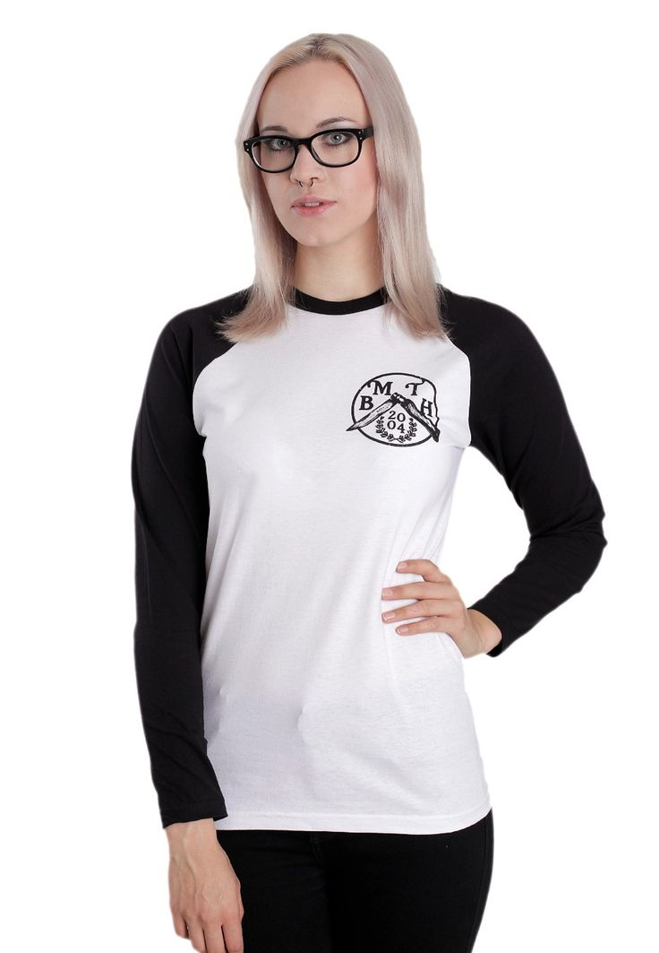Bring Me The Horizon - Flick Knife White/Black - Longsleeve - Official Rock Merchandise Online Shop - Impericon.com