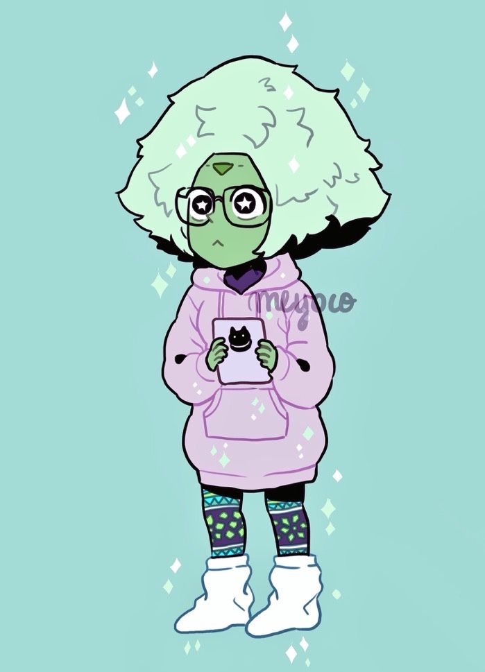 """cousaten: """" She fluffy and green """""""