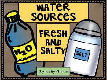 Water Sources Fresh And Salty - Lesson on our natural resources:  fresh and salt water sources