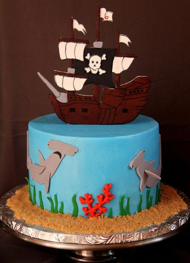 Pirate Themed Birthday Cake Cakes And Cupcakes For Kids