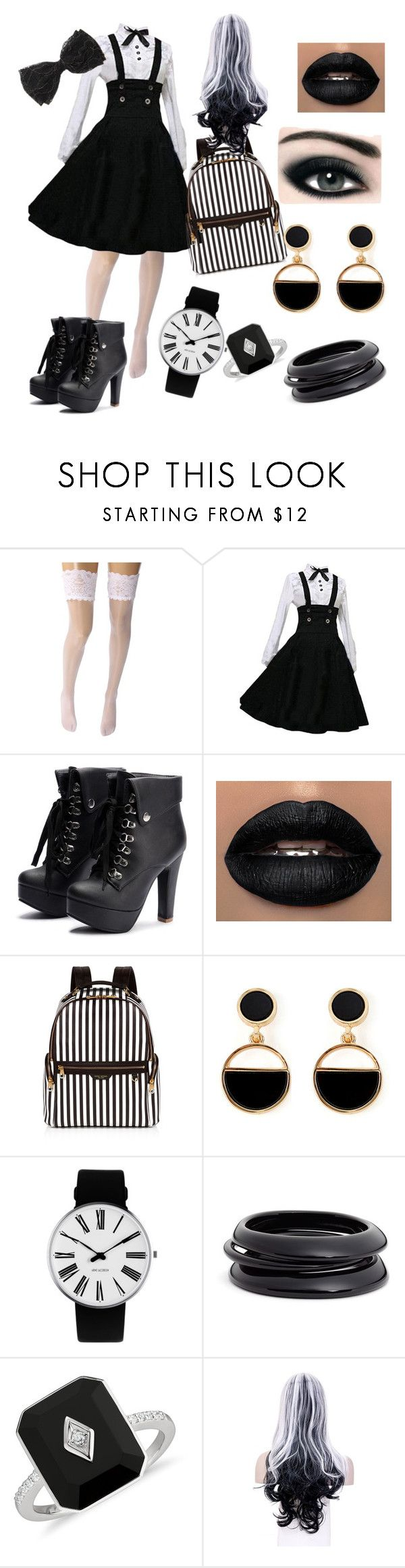 """""""27"""" by urooj684 ❤ liked on Polyvore featuring Wolford, Max Factor, Henri Bendel, Warehouse, Rosendahl and ZENZii"""