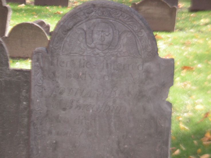 Another headstone from the graveyard in Boston