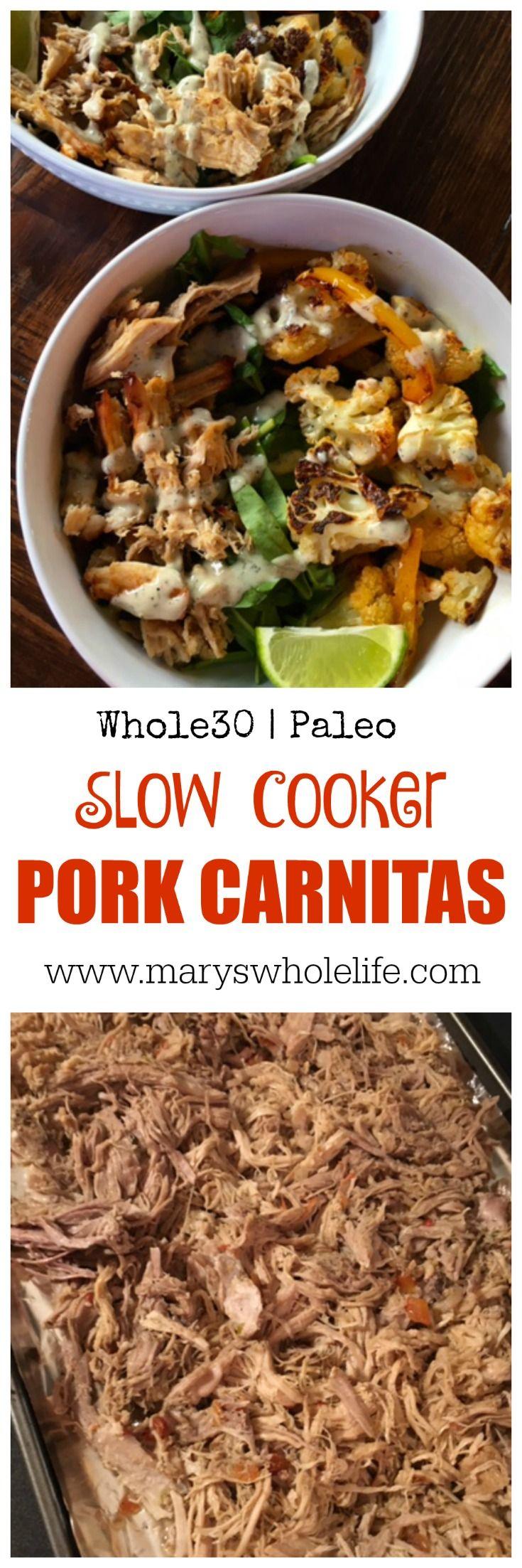 Whole30 Slow Cooker (Crock Pot) Pork Carnitas!