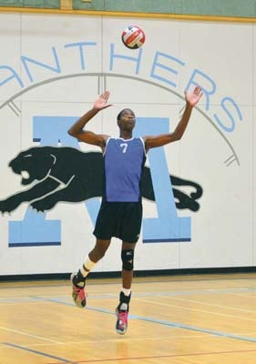 Serving it up: Moscrop Panthers power hitter J.J. Cross will lead the first-time Lower Mainland champions into the B.C. High School AAA boys' volleyball championships in Kelowna, beginning today (Wednesday) in Kelowna.